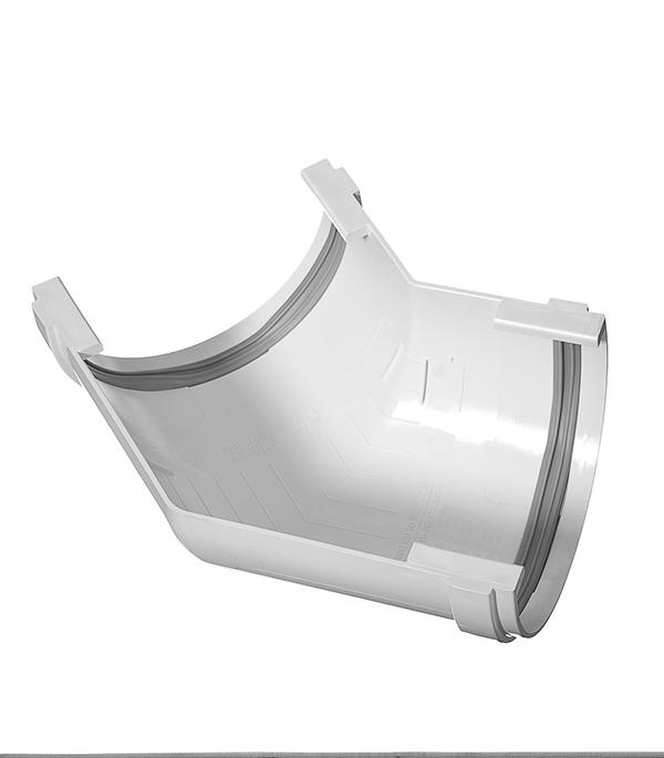 Угол желоба пластиковый  135° универсальный белый, уплотнитель VINYL-ON