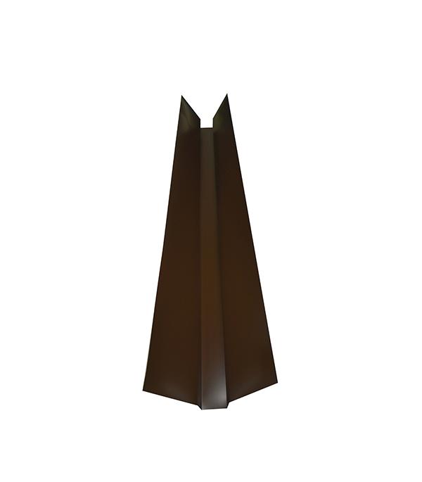 Ендова внешняя для металлочерепицы коричневая RAL 8017 150х150 мм 2 м цена и фото