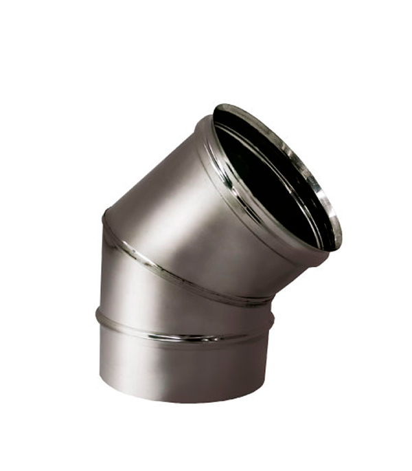Отвод 45° ад. 150 без изоляции на расширителе зеркальный 304 монитор на прадо 150