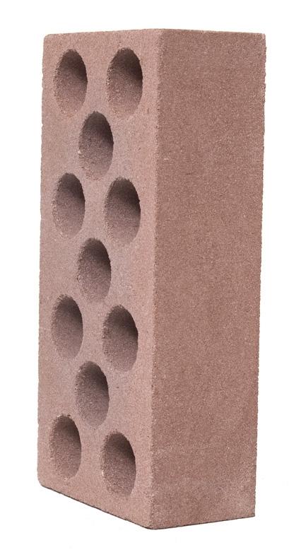 Кирпич  силикатный пустотелый лицевой коричневый 250х120х65 мм
