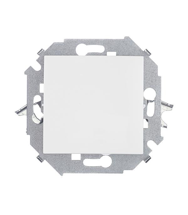 Выключатель одноклавишный Simon 15 16А белый выключатель одноклавишный legrandquteo о у влагозащищенный ip 44 белый