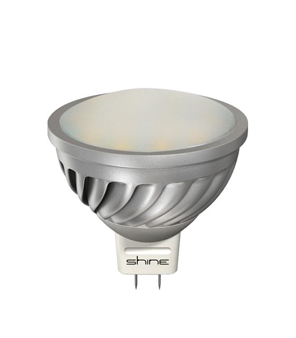 Лампа светодиодная МR16, GU5,3,  7,5W, 4000K (холодный свет), Shine