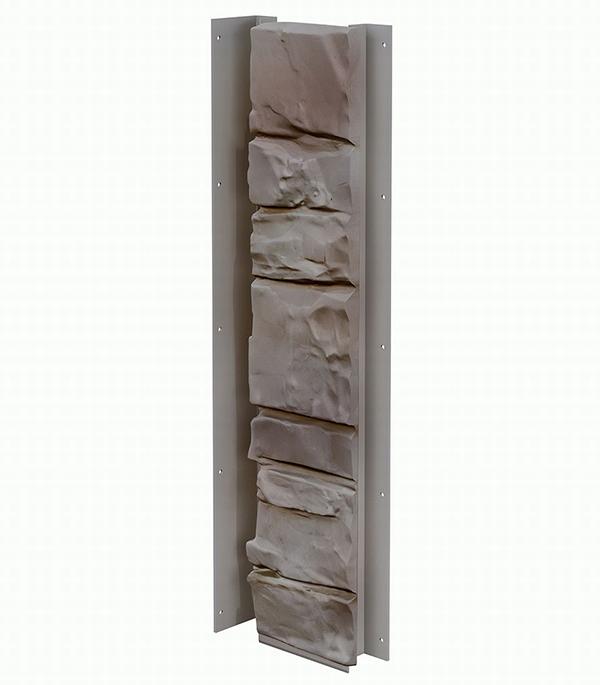 Фасадный угол внутренний (универсальная планка) Vox  121х420 мм Камень цвет PORTUGAL / ПОРТУГАЛИЯ