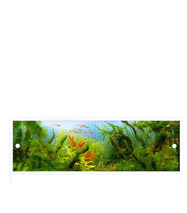 Экран под ванну Ультралегкий АРТ аквариум 1500 мм