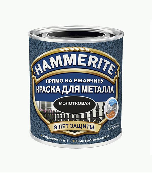 Грунт-эмаль по ржавчине 3 в1  Hammerite молотковая черная 750 мл