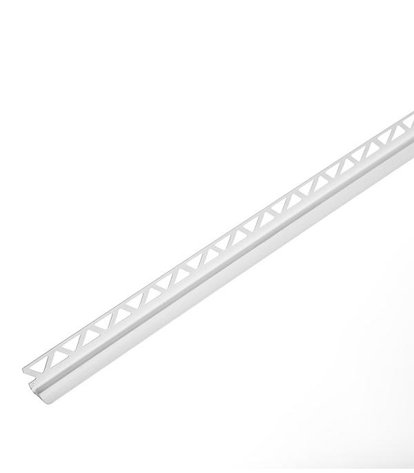 Уголок для кафельной плитки внутренний 9 мм 2,5м белый