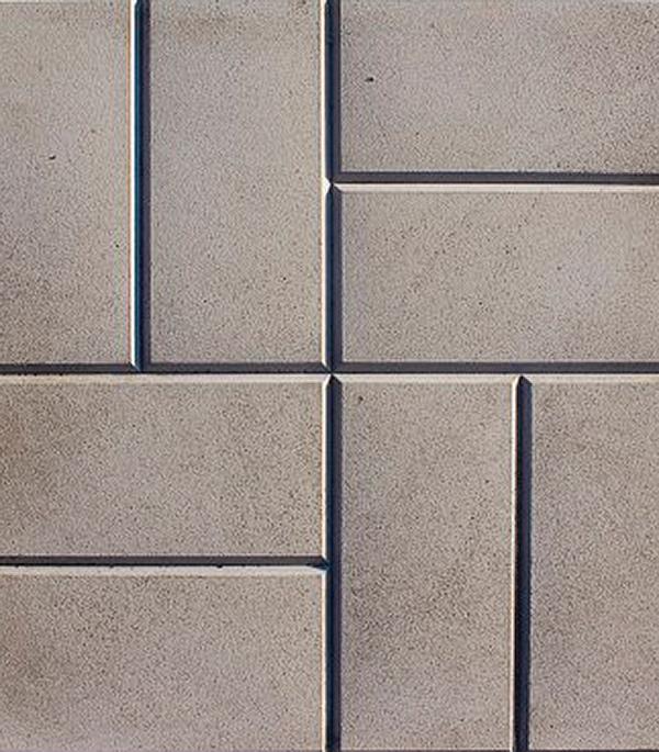 Плитка тротуарная 8-кирпичей 400х400х50 мм серая щебень известняковый в калуге