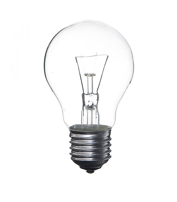 Лампа накаливания E27, 40W, A55 (груша), CL (прозрачная) Philips