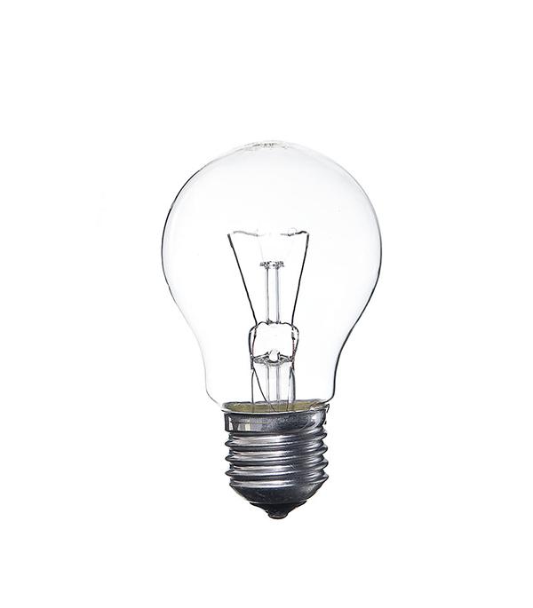 Лампа накаливания E27, 60W, A55 (груша), CL (прозрачная) Philips