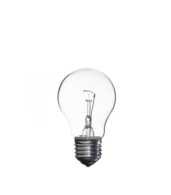 Лампа накаливания E27, 75W, A55 (груша), CL (прозрачная) Philips