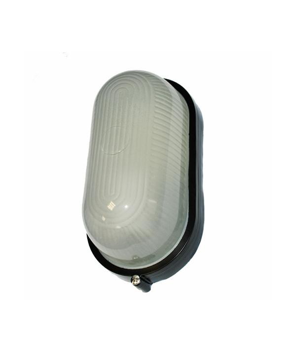 Светильник НПБ 60 Вт овальный влагозащищенный (IP 54),черный
