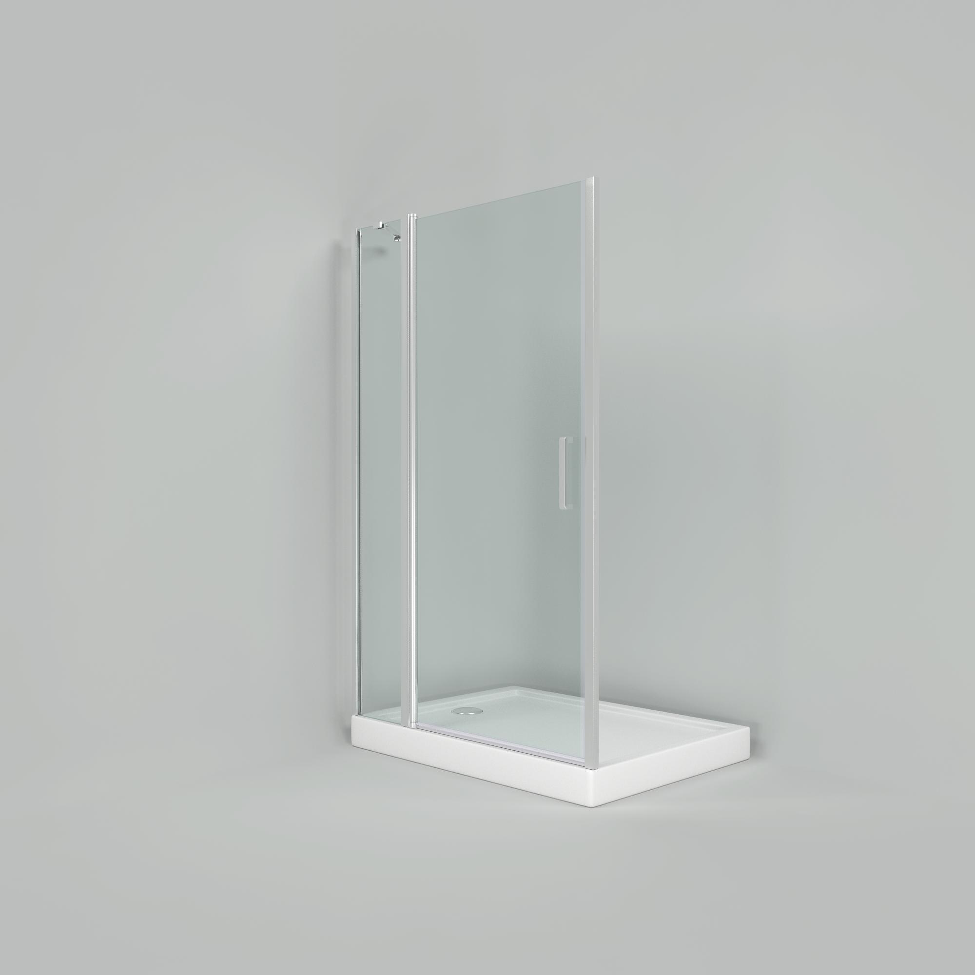 Душевое ограждение прозрачное с поддоном Дверь Пандора 1100х800х1850 мм