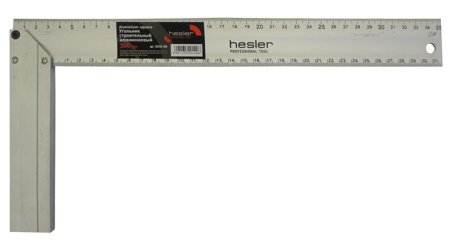 Угольник строительный 350мм алюминиевый Hesler Стандарт