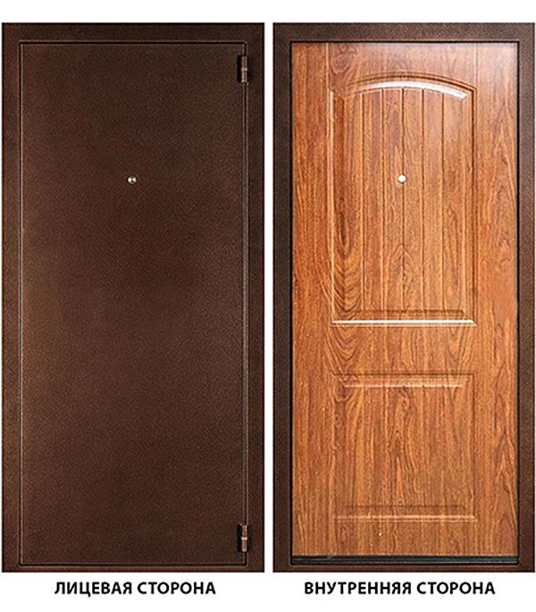 Дверь металлическая ДК Гамма (Классика) 880x2050 мм правая, без ручки