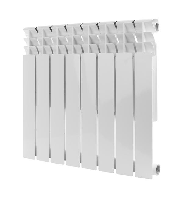Радиатор биметаллический Rommer  Optima 1 500/78,  8  секций, шт. радиатор отопления rommer optima bm 500 биметаллический 8 секций