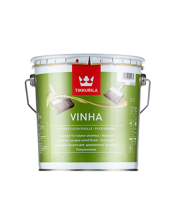 Антисептик кроющий Tikkurila Vinha основа VC 2.7 л кроющий антисептик д дерева vinha vc 9 л