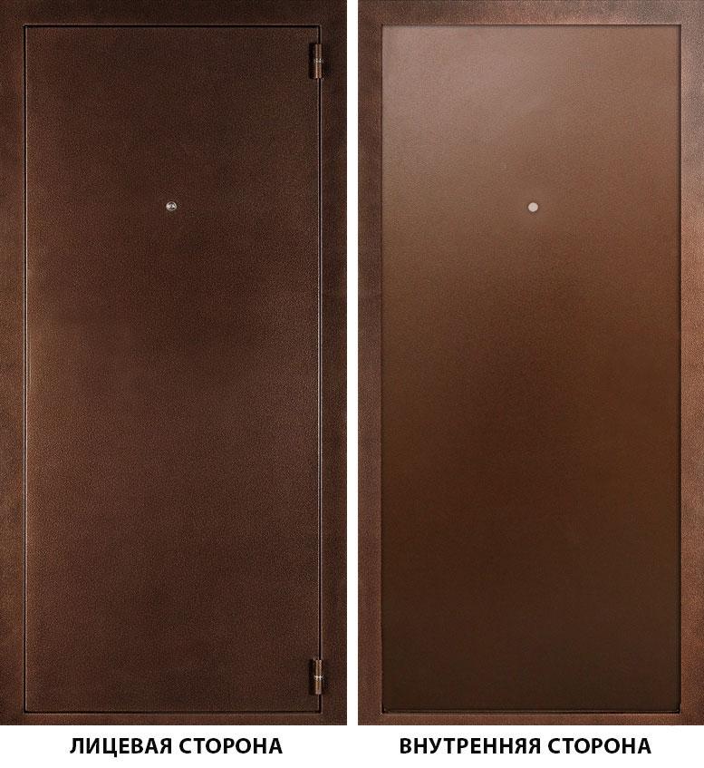 Дверь металлическая ДК Альфа 980x2050 мм правая, без ручки