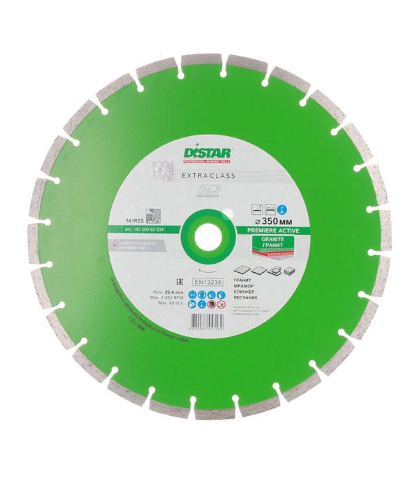 Диск алмазный сегментный по граниту 350х25,4 мм Distar диск алмазный diam 150х22 2мм master турбо 000160