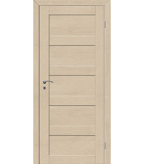 Дверное полотно  экошпон  TREND 5P Капучино 820x2000 мм, с притвором