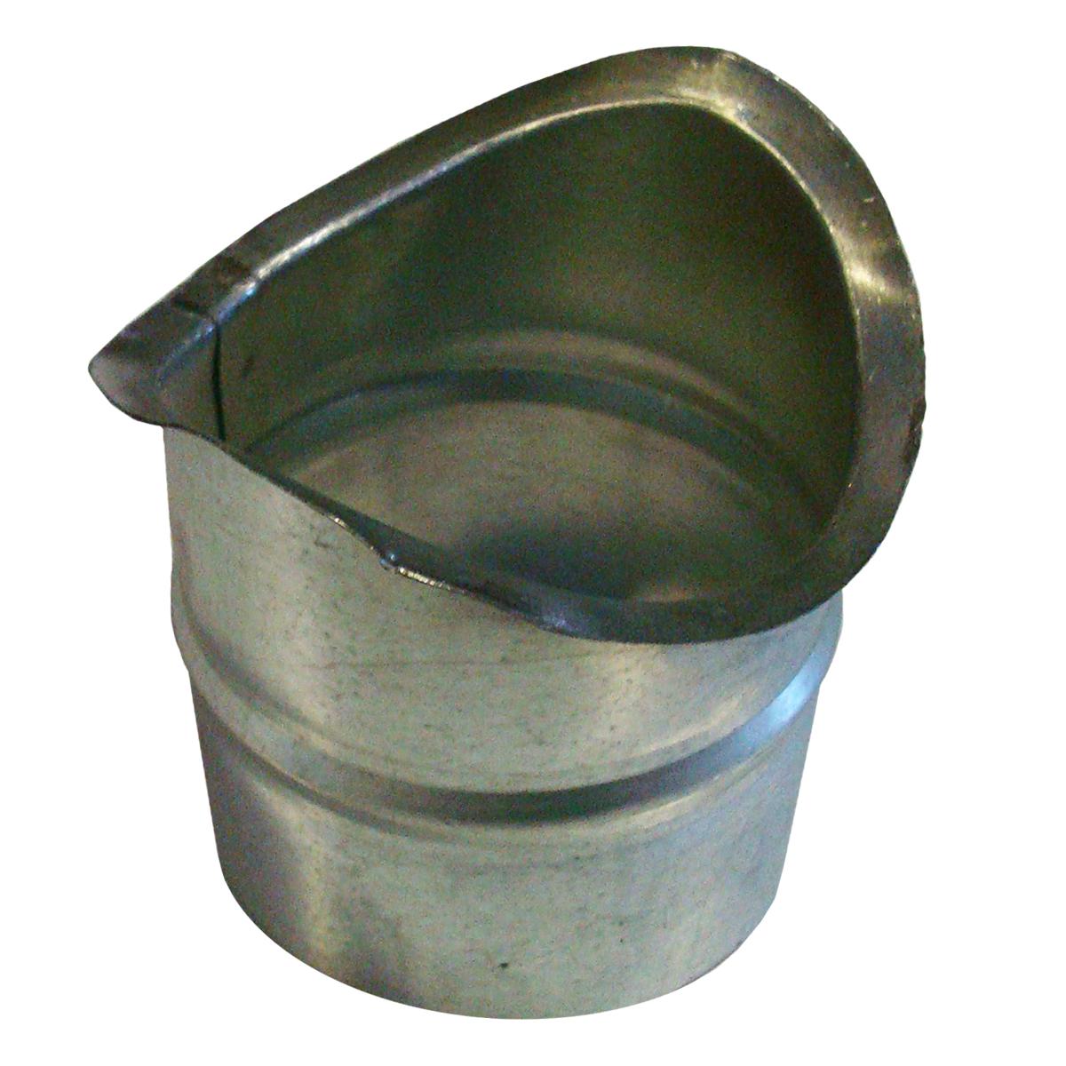 Врезка оцинкованная для круглых стальных воздуховодов d125х125 мм
