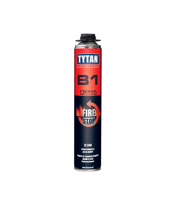 Пена монтажная Tytan B1 огнеупорная профессиональная 750 мл пена монтажная kapral 30 профессиональная всесезонная 750 мл