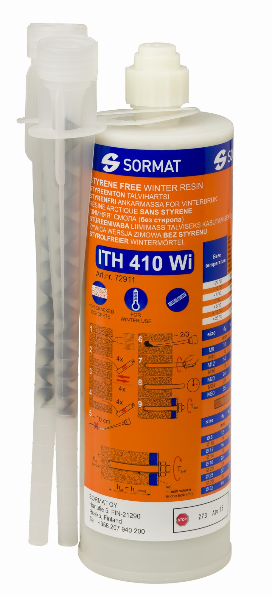 Анкер химический зимний (инжекционная масса) 410 мл винилоэстровая смола Sormat