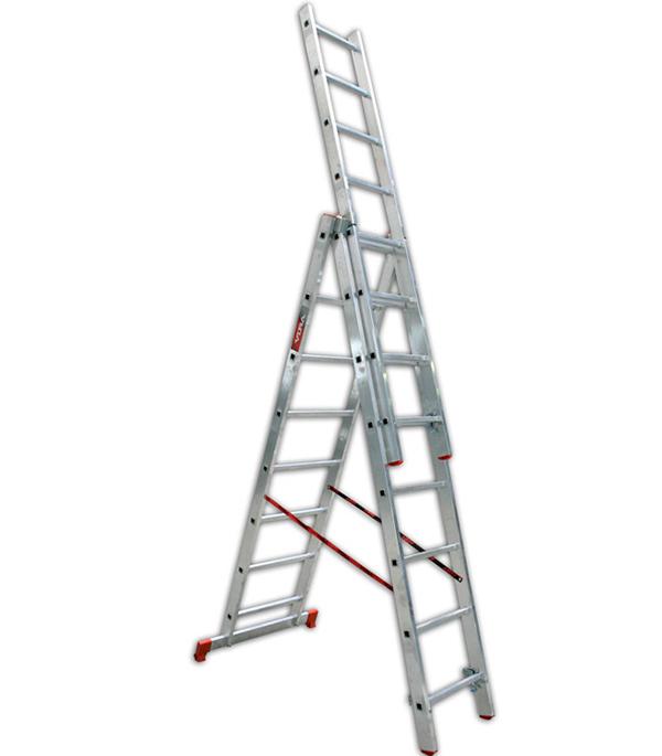 Лестница   3-х секционная бытовая  3х8 Vira Эконом