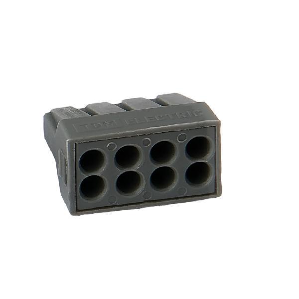 Зажим (клемма) на 8 провода  КБМ-773-308 (0,1-2,5 мм.кв)  с пастой, (5 шт), TDM