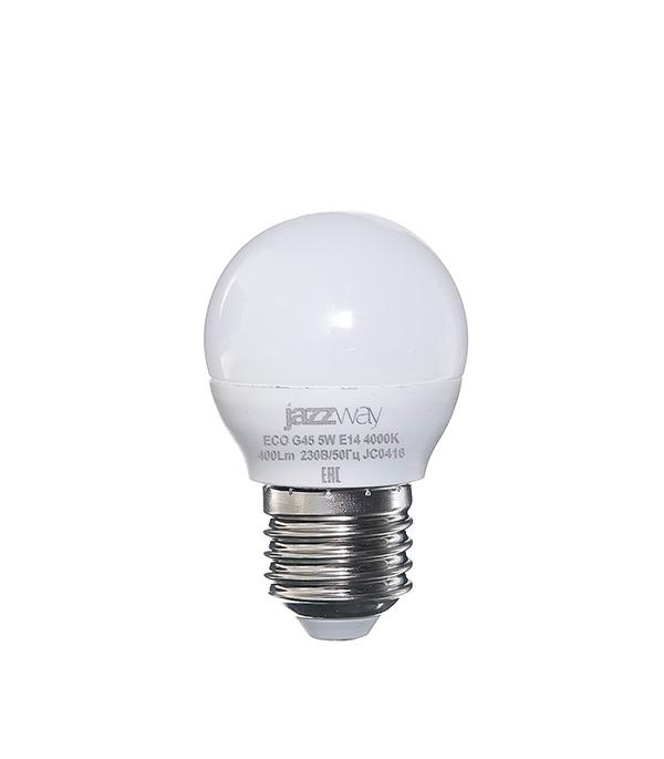Лампа светодиодная E27 5W G45 4000K Jazzway