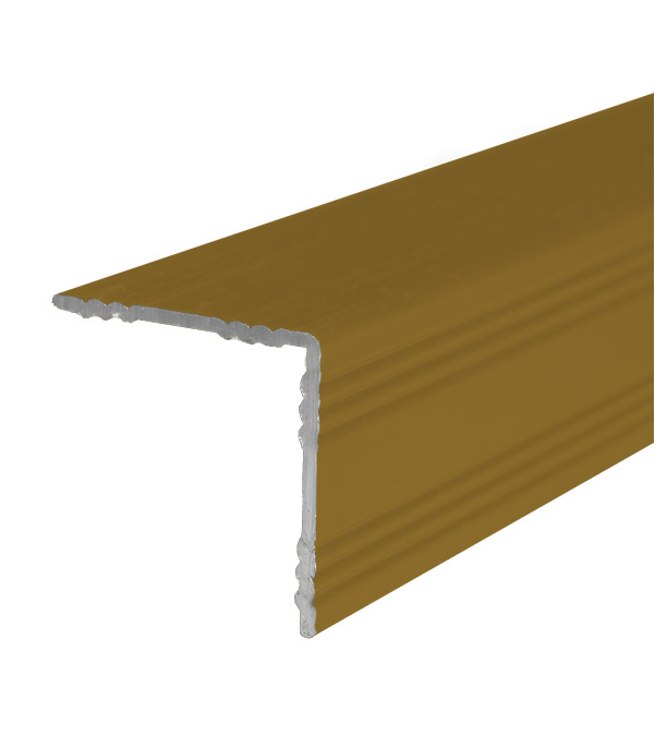 цена на Порог для кромок ступеней 19х19х900 мм Золото