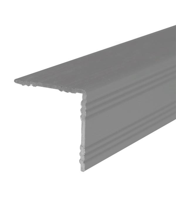 цена на Порог для кромок ступеней 19х19х900 мм Серебро