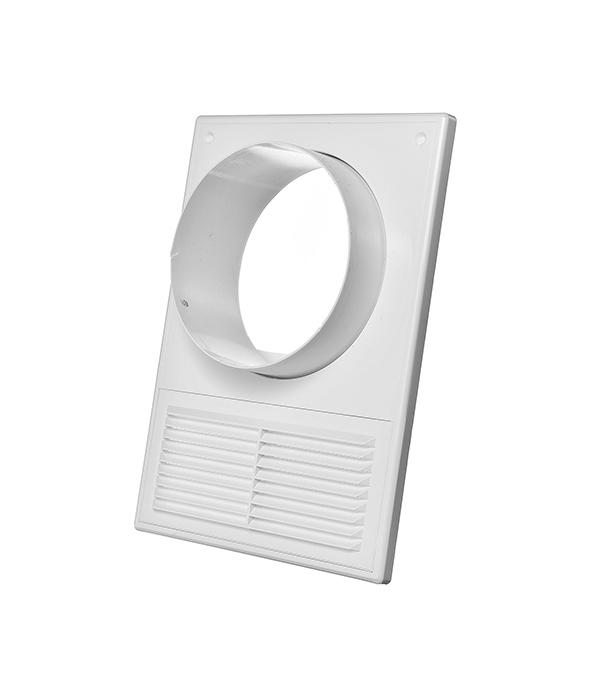 Соединитель для круглых воздуховодов пластиковый 182х252 мм с фланцем d125 мм и решеткой