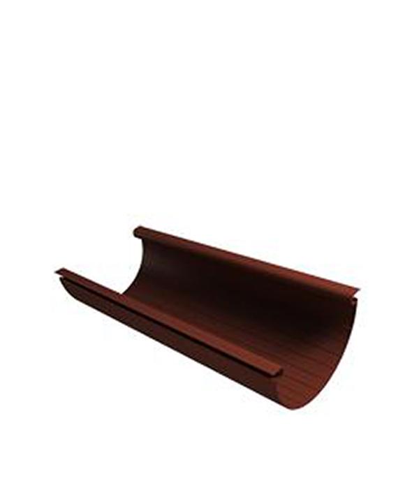 Желоб водосточный Vinyl-On пластиковый 3 м коричневый (кофе) угол желоба внутренний grand line 125 90° красное вино металлический