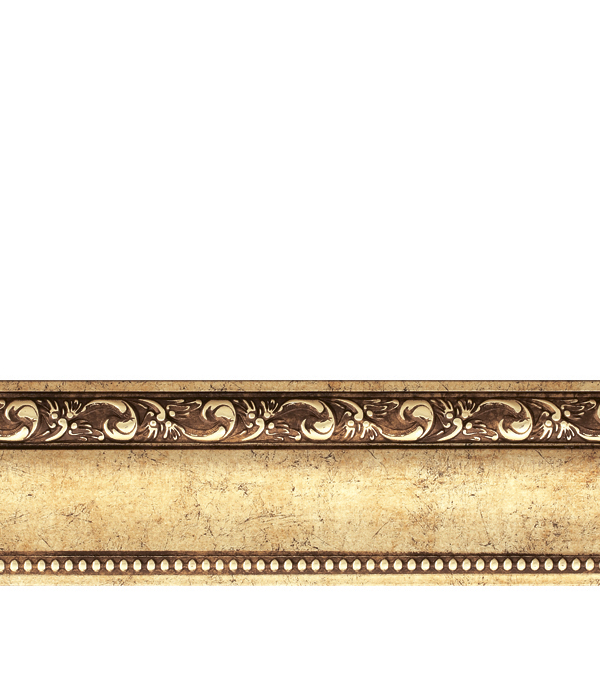 Плинтус (молдинг) 60х22х2400 мм Decomaster античное золото