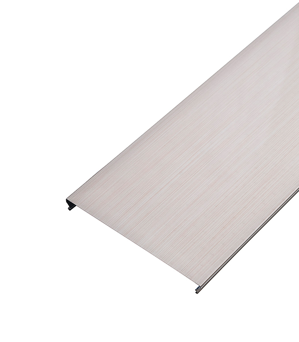 Реечный потолок для ванной комнаты 150AS 1,7х1,7 м (комплект) бледно розовый штрих на белом