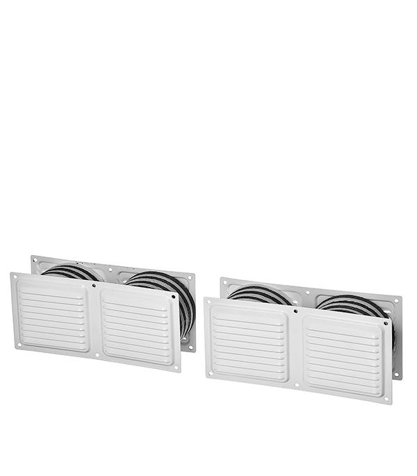Клапан вентиляционный дверной 400 х 100 мм белый Двервент