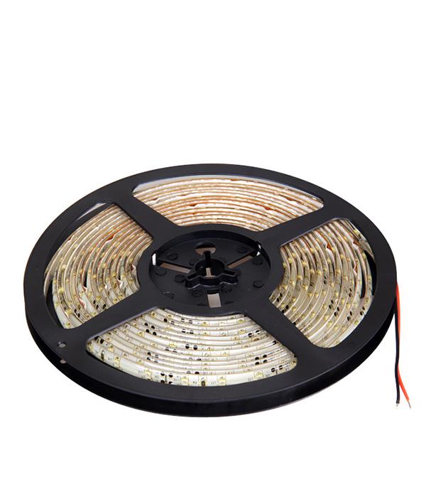 Лента светодиодная 60 LED/м, 4,8 Вт/м, 12В, IP65 (влагозащищенная), теплый свет, 5 м, Jazzway