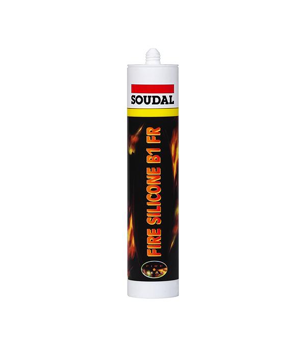 Герметик силиконовый огнестойкий Soudal 300 мл белый  герметик для паркета soudal бук 300 мл