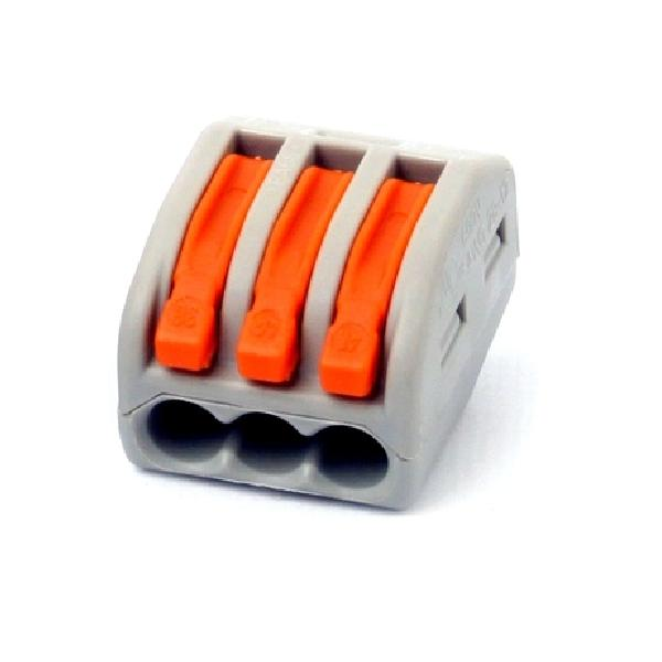 Зажим (клемма) на 3 провода СК-413 (0,1-2,5 мм.кв) без пасты, (5 шт), TDM