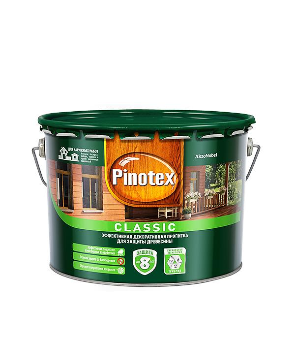 Декоративно-защитная пропитка для древесины Pinotex Classic орех 9 л  пинотекс classic антисептик орех 1 л