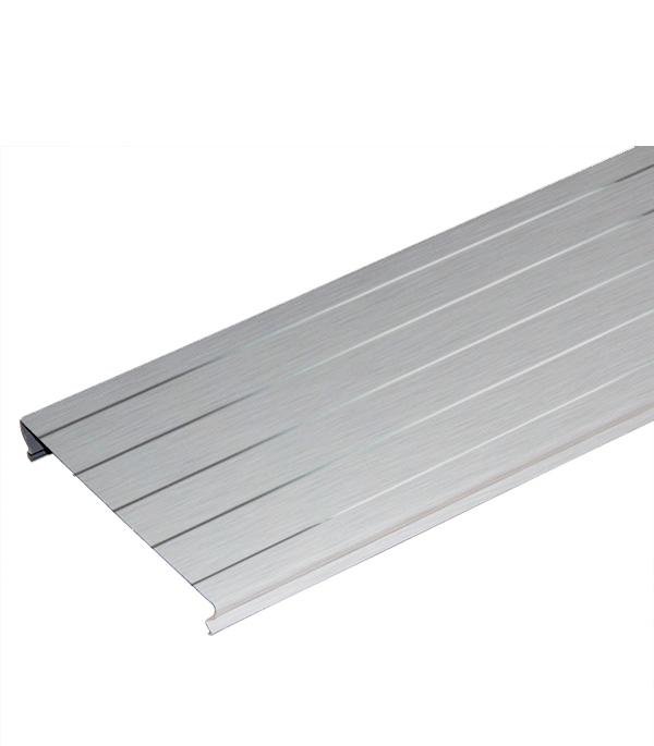 Рейка сплошная S-дизайн Албес A100AS 3 м серебристый металлик с металл.полосой