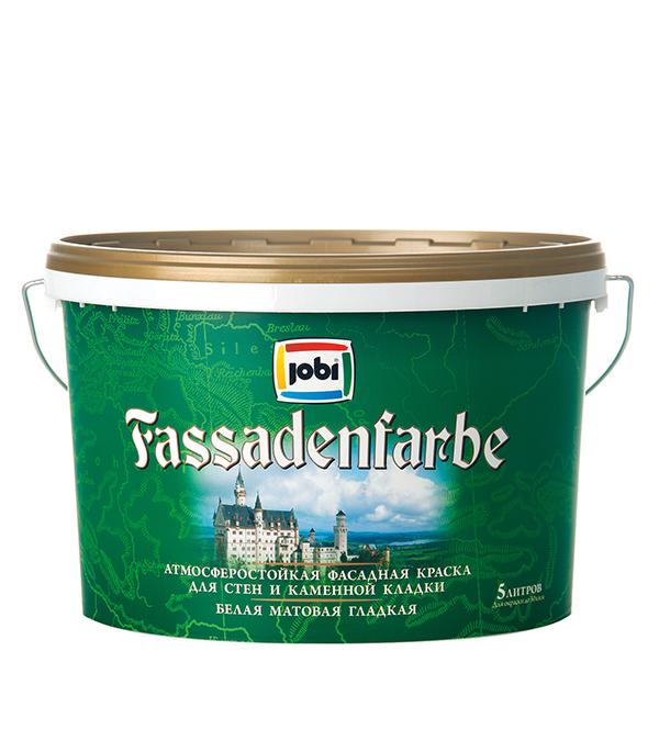 Краска в/д фасадная белая матовая акриловая JOBI FassadenFarbe  5 л