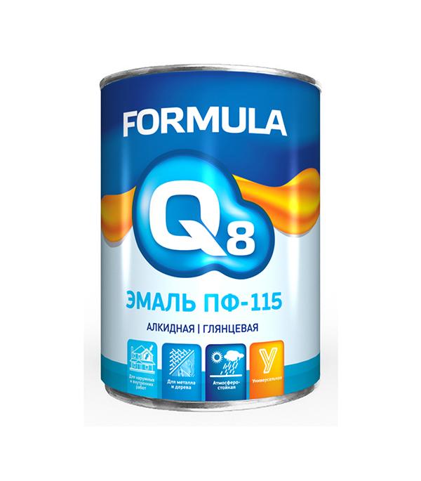 Эмаль ПФ-115 коричневая Formula Q8 0,9 кг