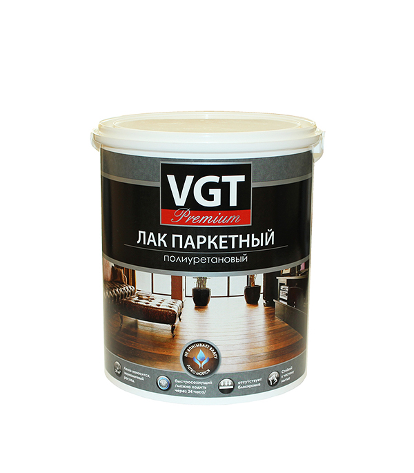 Лак VGT полиуретановый паркетный PREMIUM глянцевый 2,2 кг