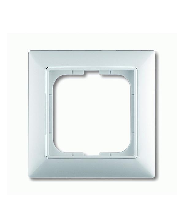 Рамка oдноместная АВВ Basic 55 альпийский белый
