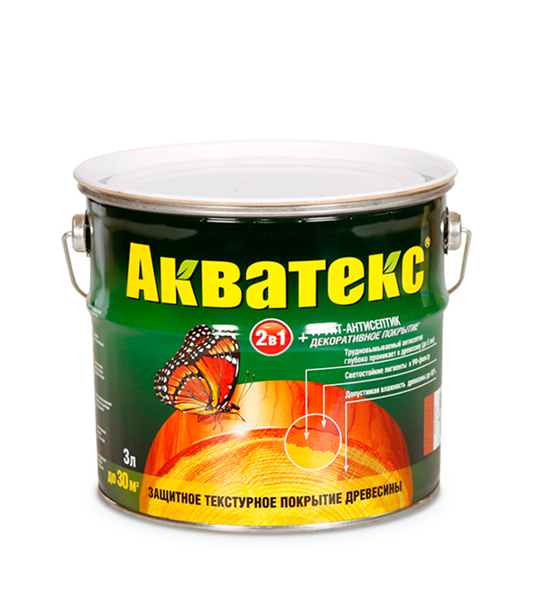 Антисептик Рогнеда Акватекс орех 3 л антисептик для обработки древесины