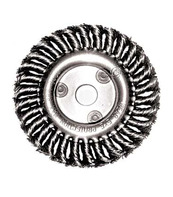 Корщетка-колесо витая для УШМ 125х22 мм Fit