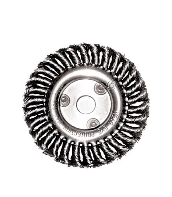 Корщетка-колесо витая для УШМ 150х22 мм Fit