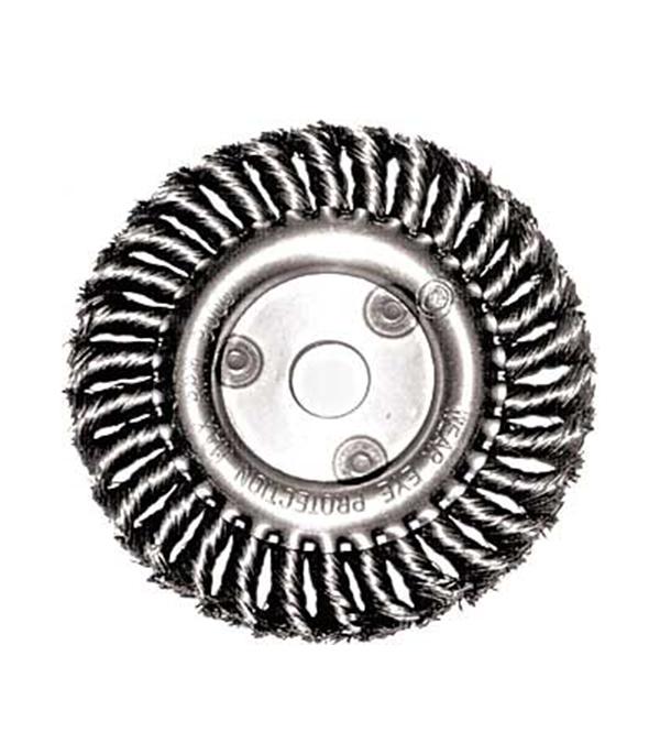 Корщетка-колесо витая для УШМ 180х22 мм Fit