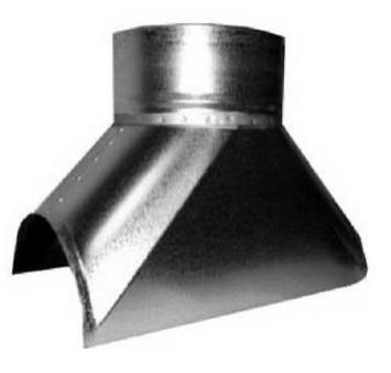 Врезка оцинкованная для круглых стальных воздуховодов d125х100 мм